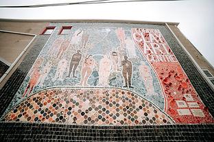 London Clay Art Centre Canada 150 Mosaic, Artist Coordinators_ Susan Day, and Beth Turnbul