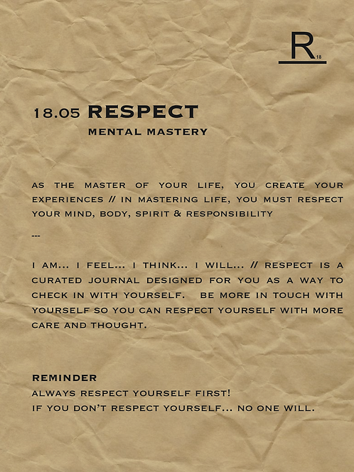 18.05 RESPECT | mental mastery