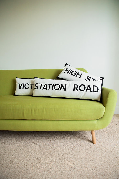Street Name Cushion