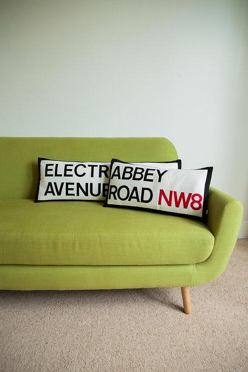 Iconic Street Name Cushion