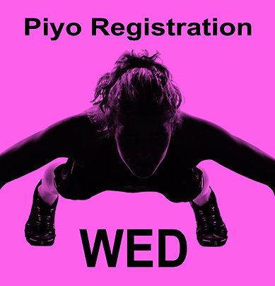 Wednesday PiYo Registration for September - $20