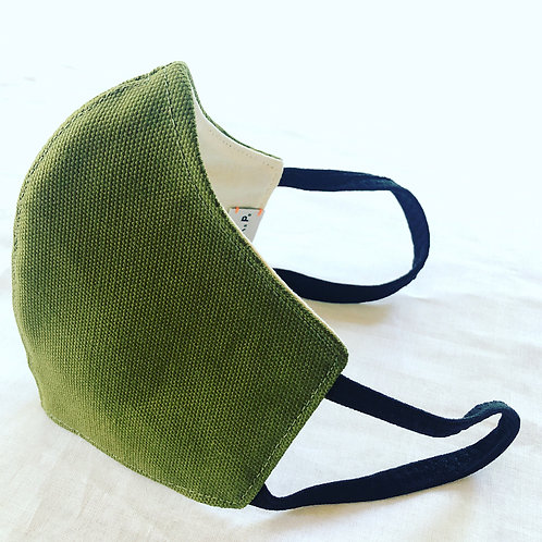 G.K.P. Face Covering: Matcha Canvas