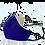 Thumbnail: G.K.P. Face Covering: Purple Canvas