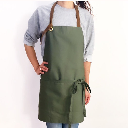 G.K.P. Apron SHORTer: Olive Green Canvas