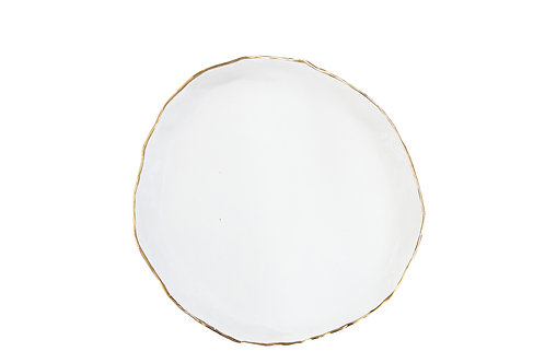 The Bloomington: White & Gold Salad Plate