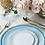 Thumbnail: The Amalfi: Blue & Gold 3-Piece Ceramic Plate Set