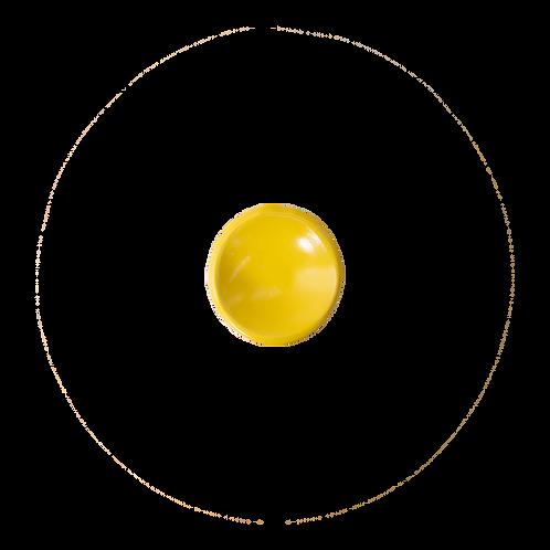 The Citrine: Bright Yellow Salt Cellar / Ring Dish