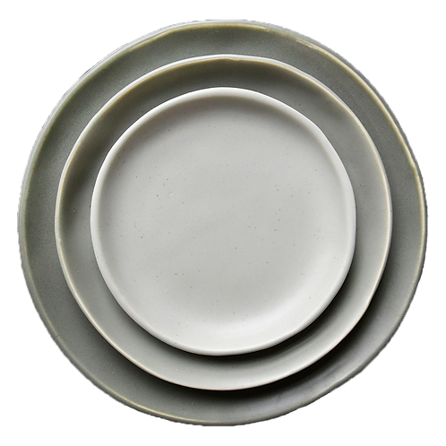 The Jett: Gray Ceramic 3-Plate Set