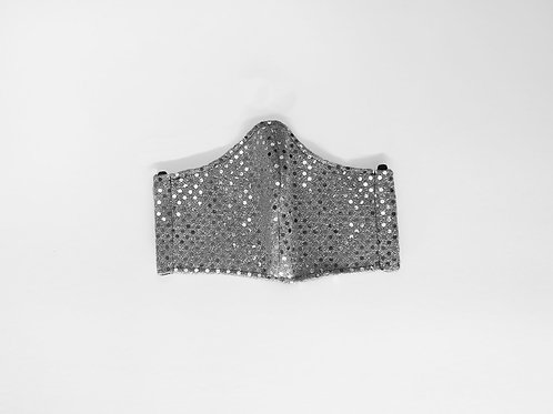 The Stardust: Silver Sequin Victory Mask