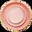 Thumbnail: The Soleil: Coral & Gold 3-Piece Plate Set