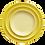 Thumbnail: The Citrine: Bright Yellow Ceramic 3-Plate Set