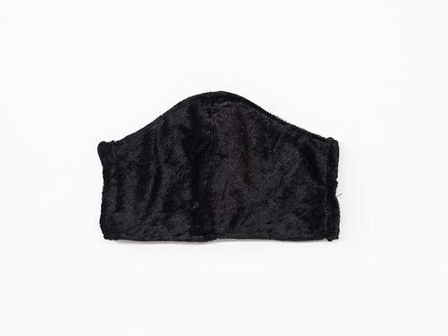 The Nero: Black Crushed Velvet Victory Mask