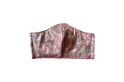The Birdsong: Pink Iridescent Velvet Victory Mask