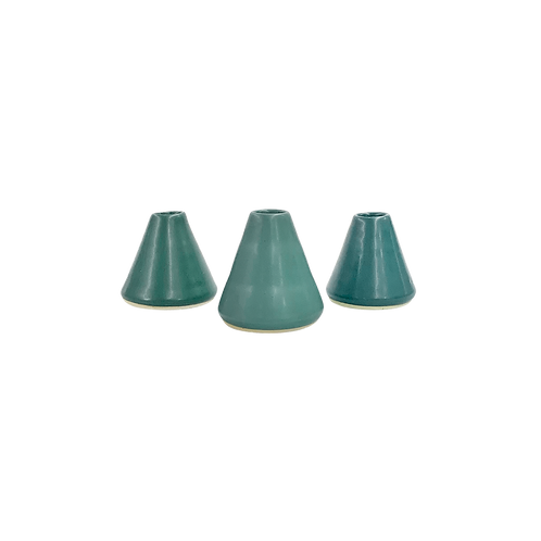 The Circe: Jade Green 3-Piece Bud Vase Set