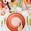Thumbnail: The Soleil: Coral & Gold Dinner Plate