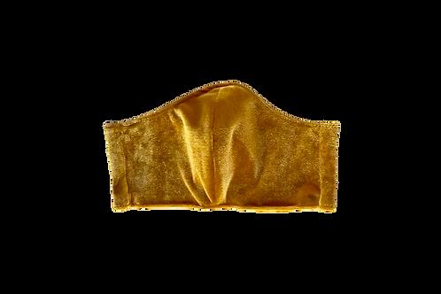 The Marigold: Gold Velvet Victory Mask