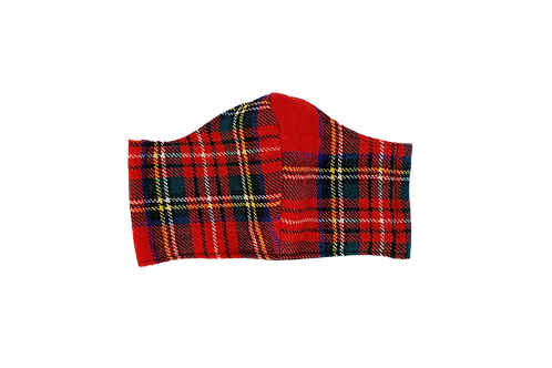 The Tai: Red Plaid Flannel Victory Mask