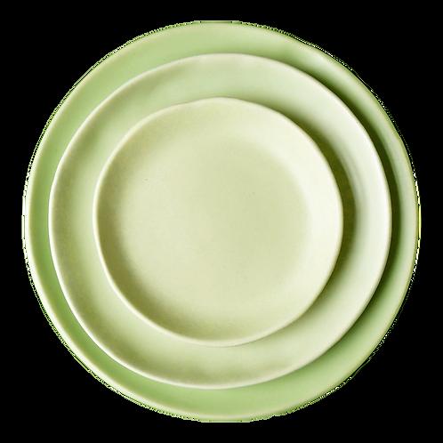 The Midori: Chartreuse Ceramic 3-Plate Set