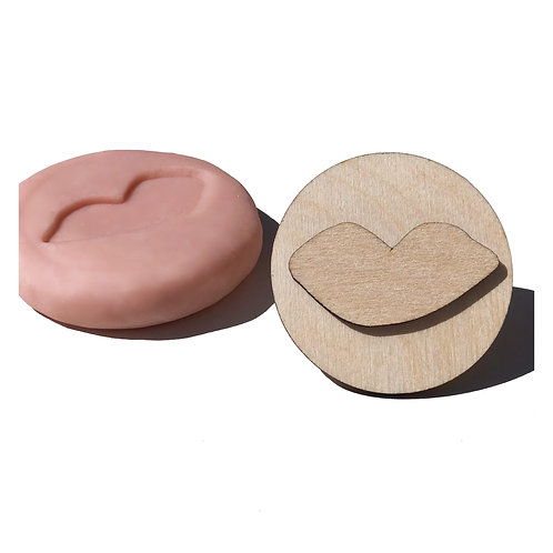 Wooden Stamp ''Lips''