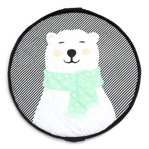 Polar bear soft baby playmat - bag