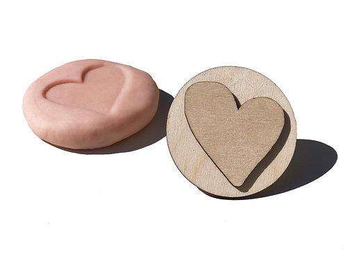 Wooden Stamp ''Heart''