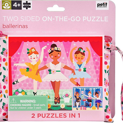 Two Sided On-The-Go Ballerina Puzzle, 100 Pieces