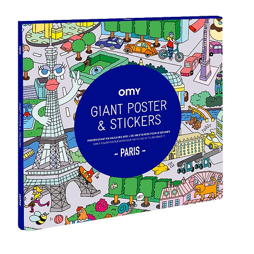 OMY - Giant Poster & Stickers - Paris