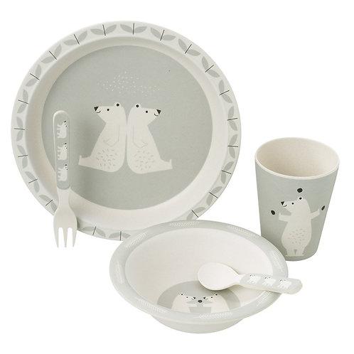 Bamboo Dinner Set - Polar Bear