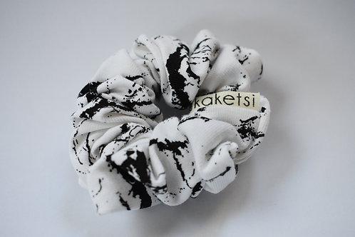 Scrunchie ''BW marble'' mini