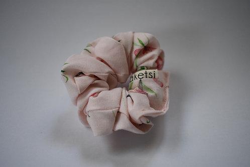 Scrunchie ''Pink Flower'' mini