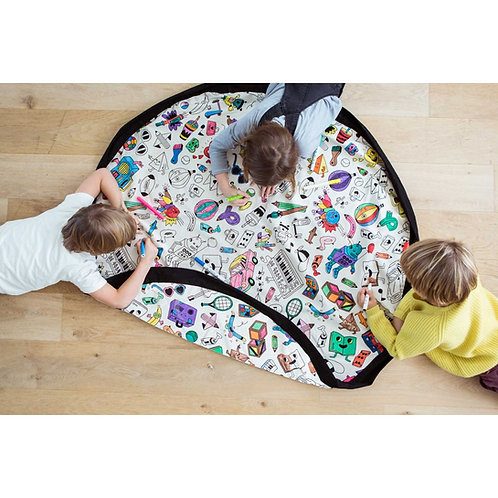 Omy color your toy storage bag