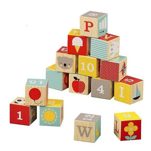 ABC Wooden Alphabet Blocks