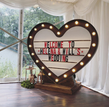 Our Rustic Loveheart Lightbox