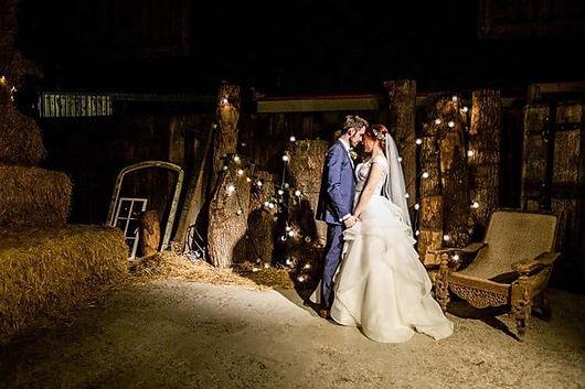 Emotional Wedding Photo in Barn Yard