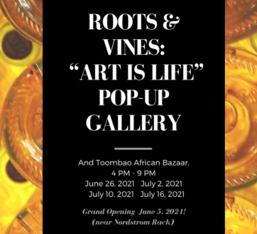 """Roots & Vines: Life is Art Gallery """"Pops Up"""" at Westfield Mission Valley Mall"""