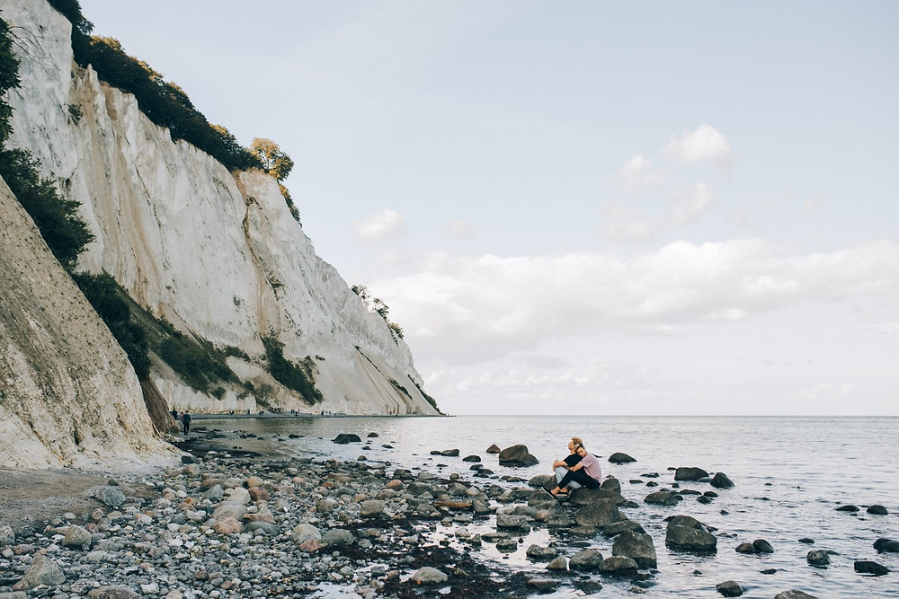 A view to Moens klint - perfect venue for your adventure wedding