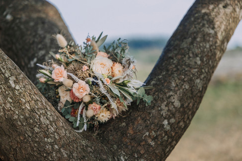 The bride's flower bouquet, one of the many thoughtful details that go into our wedding packages abroad for two in Denmark.