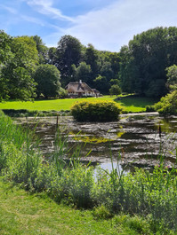 A romantic pond at Liselund park at Møn Island in Denmark, a lovely wedding venue for a small intimate wedding abroad.