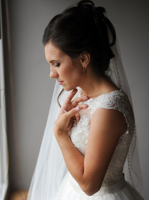 A bride preparing for her Scandinavian wedding in Denmark, one of the best places to get married abroad.