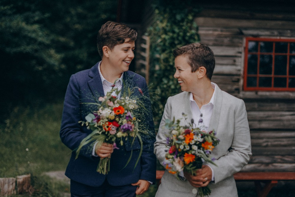 LGBT wedding in the forest in Lejre in Denmark