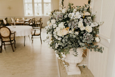 A detail of a Denmark wedding venue in Maribo town at Lolland Island, one of the many charming preparations that go into our wedding packages abroad for two.