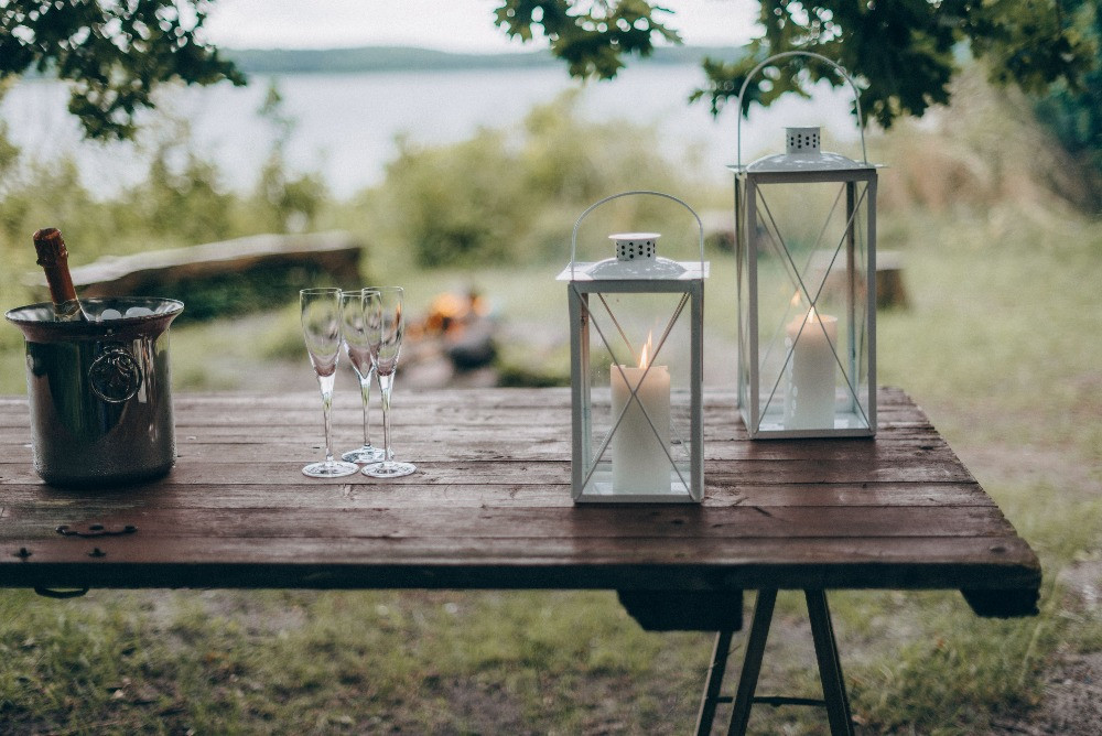 A romantic setup for the forest elopement in Denmark