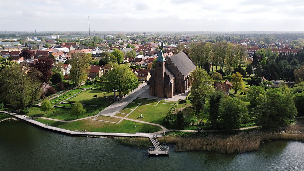 A view to Maribo, your wedding town in Denmark