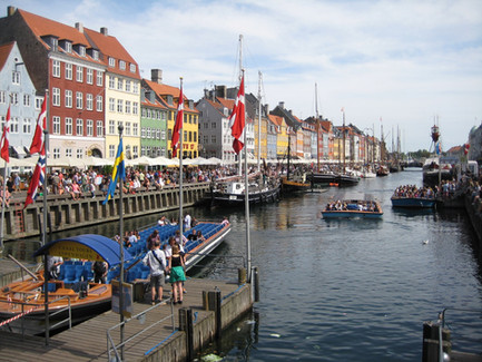 Nyhavn is the famous marked place in Danish capital