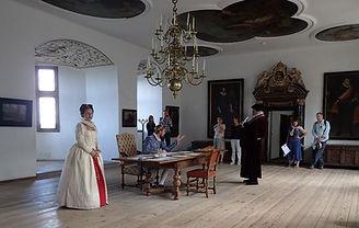Actors throughout Hamlet's Elsinore Castle keep the historical spirit alive.
