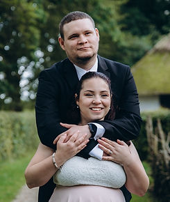 A portrait of newlyweds which just got married in Denmark.