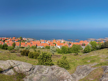 A view to Gudjem on Bornholm