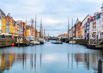 A view to canal in the centre of Copenhagen