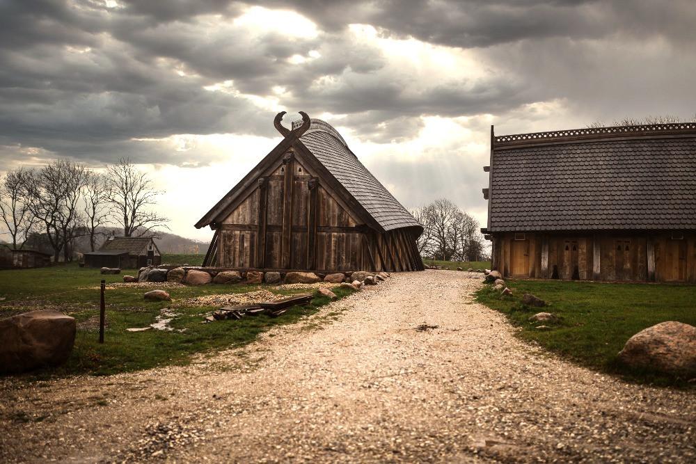 A Viking village in Denmark in Lejre