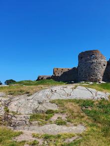 Hammershus-famous -ruin-on-island-of-Bornholm